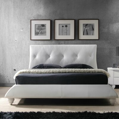 Bellagio Upholstered Platform Bed Size: King