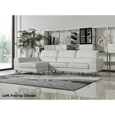 Morgan Sectional Orientation: Left Hand Facing, Upholstery: White