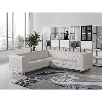 Palomino Sectional Upholstery: White