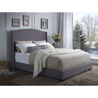 Valencia Upholstered Panel Bed Size: Queen
