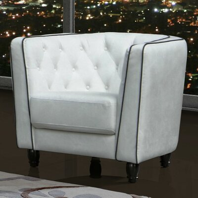 Warwick Barrel Chair Upholstery: White