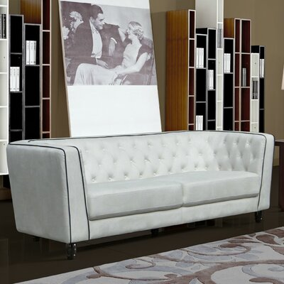 Warwick Chesterfield Sofa Upholstery: White