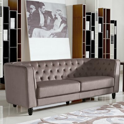 Warwick Chesterfield Sofa Upholstery: Taupe
