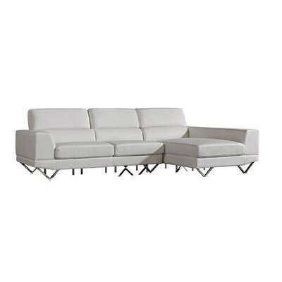 Morgan Sectional Orientation: Right Hand Facing, Upholstery: White