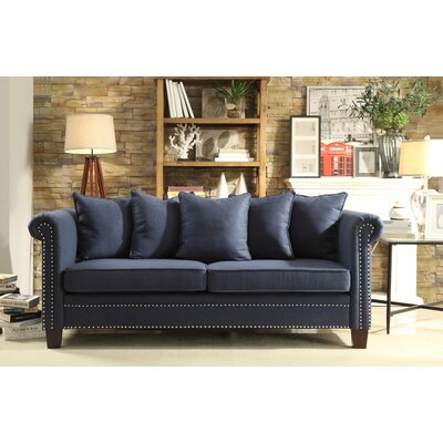 Leffler Sofa Upholstery: Blue