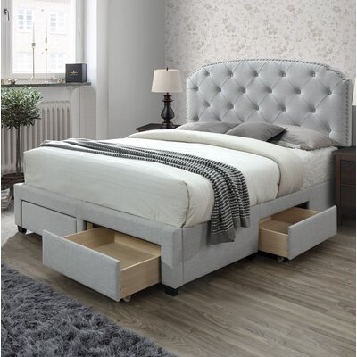 Darcie Storage Upholstered Panel Bed