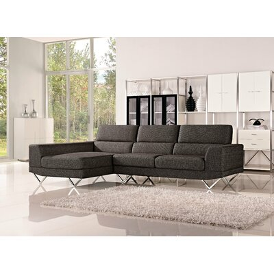 Morgan Sectional Orientation: Left Hand Facing, Upholstery: Charcoal