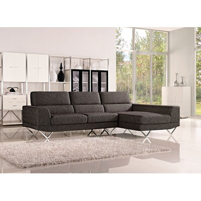 Morgan Sectional Orientation: Right Hand Facing, Upholstery: Charcoal