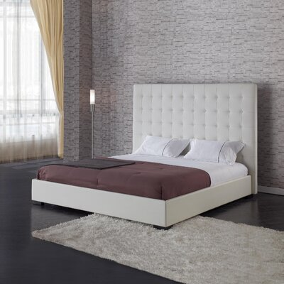 Metropolitan Upholstered Storage Platform Bed Size: King, Finish: White
