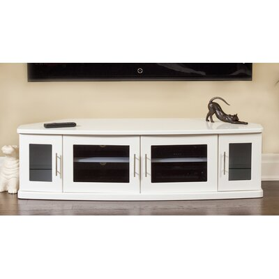 Newport Corner 62 TV Stand Color: White