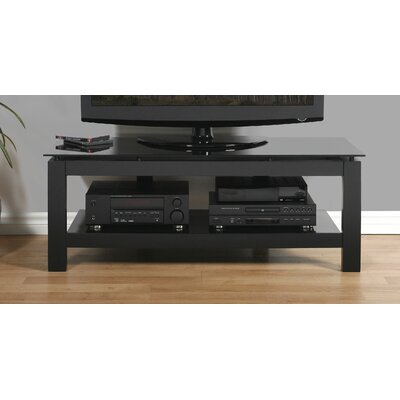 SL Series 50 TV Stand Glass Color: Black