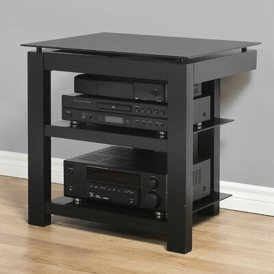 SL Series 2-Shelf Audio / Video Rack Glass Color: Black