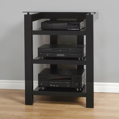 SL Series Audio / Video Rack Glass Color: Black