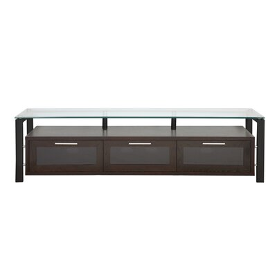 Decor Series TV Stand Finish: Black Oak and Black With Clear Glass
