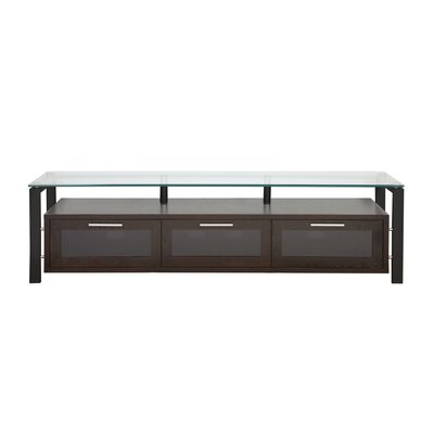 Decor Series 71 TV Stand Color: Black Oak and Black with Black Glass
