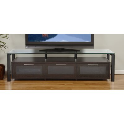Decor Series 71 TV Stand Color: Espresso and Black