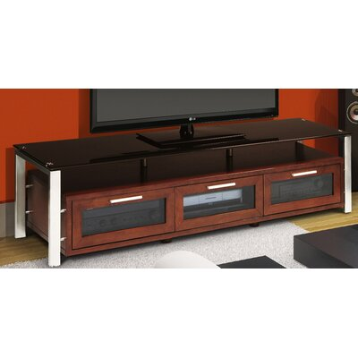 Decor Series 71 TV Stand Color: Walnut and Black