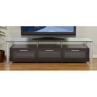 Decor Series 71 TV Stand Color: Espresso and Silver