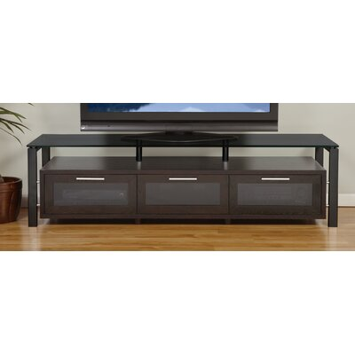 Decor Series 71 TV Stand Color: Espresso and Black with Black Glass