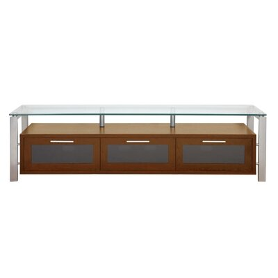Decor Series 71 TV Stand Color: Walnut and Silver