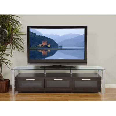 "Plateau Decor Series 71"" TV Stand - Finish: Espresso and Silver at Sears.com"