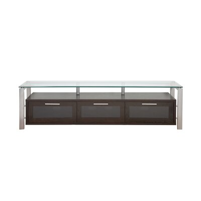 "Plateau Decor Series 71"" TV Stand - Finish: Espresso and Silver with Black Glass at Sears.com"
