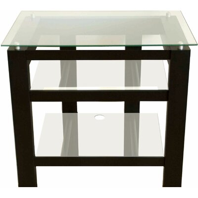 SL Series 2-Shelf Audio / Video Rack Glass Color: Clear