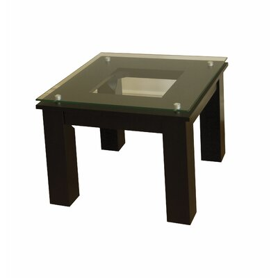 SL Series End Table Glass Color: Clear
