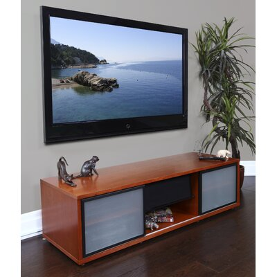 SR Series 65 TV Stand Frame Color: Walnut, Base Color: Black
