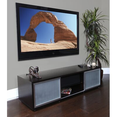SR Series 65 TV Stand Frame Color: Black, Base Color: Silver
