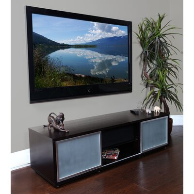 SR Series 65 TV Stand Frame Color: Espresso, Base Color: Silver