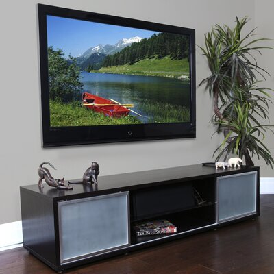 SR Series 75 TV Stand Frame Color: Espresso, Base Color: Silver