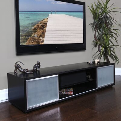 SR Series TV Stand Frame Finish: Black Oak, Door Finish: Silver
