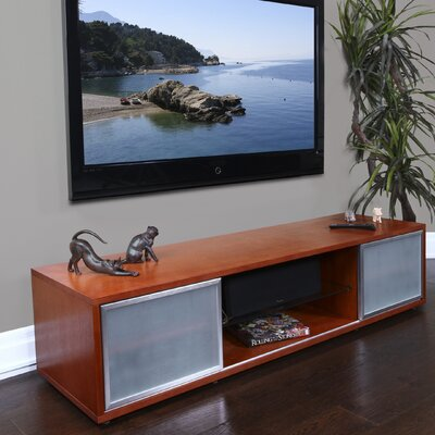 SR Series TV Stand Frame Finish: Walnut, Door Finish: Silver