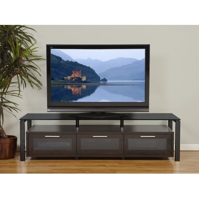 "Plateau Decor Series 71"" TV Stand - Finish: Espresso and Black with Black Glass at Sears.com"