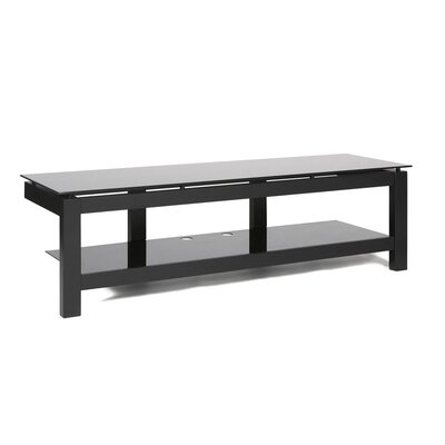 SL Series TV Stand Glass Color: Black