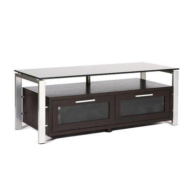 D�cor 50 TV Stand Color: Espresso and Silver, Glass Color: Black Glass