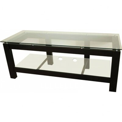 SL Series TV Stand Glass Color: Clear Glass
