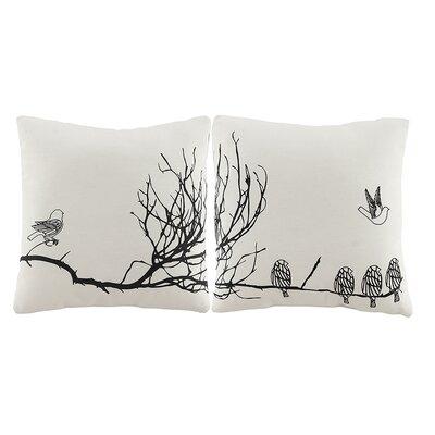 2 Piece Murals Throw Pillow Set