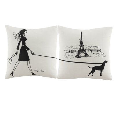 2 Piece Murals Throw Pillow Set