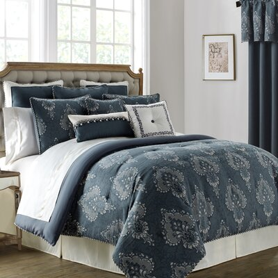Desirie 4 Piece Comforter Set Size: California King