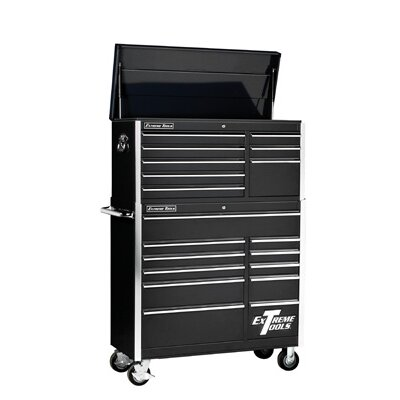 "Extreme Tools 41"" Combo Tool Chest and Roller Cabinet in Black at Sears.com"