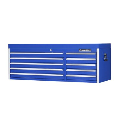 "Extreme Tools 56"" 10 Drawer Professional Tool Chest in Blue at Sears.com"