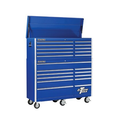 "Extreme Tools 56"" Combo Tool Chest and Roller Cabinet in Blue at Sears.com"