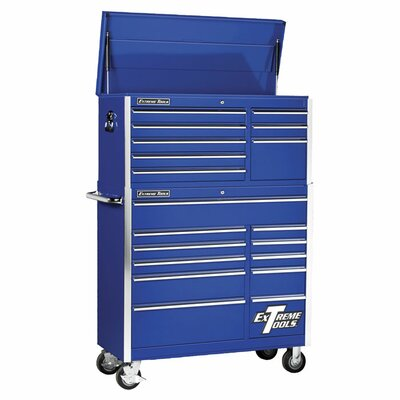 "Extreme Tools 41"" Combo Tool Chest and Roller Cabinet in Blue at Sears.com"