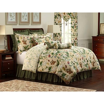 Royal Heritage Home Colonial Williamsburg Garden Image Bedding Collection (3 Pieces) - Size: Queen
