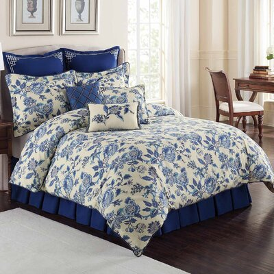 Williamsburg 4 Piece Comforter Set Size: Queen