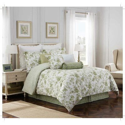 Williamsburg Burwell 4 Piece Comforter Set Size: Full/Double