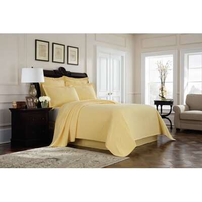 Williamsburg Richmond Bed Skirt Color: Yellow, Size: Queen