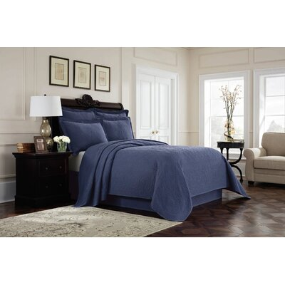 Williamsburg Richmond Bed Skirt Color: Blue, Size: Queen